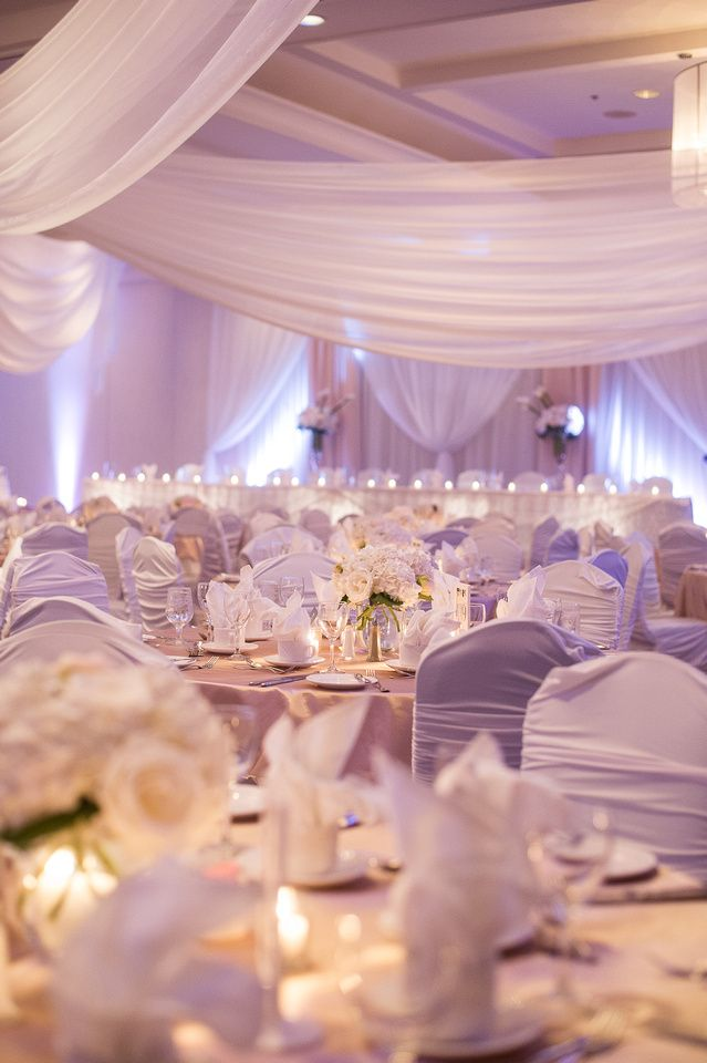 White And Cream Wedding Drapingalmost A Hint Of Lavender