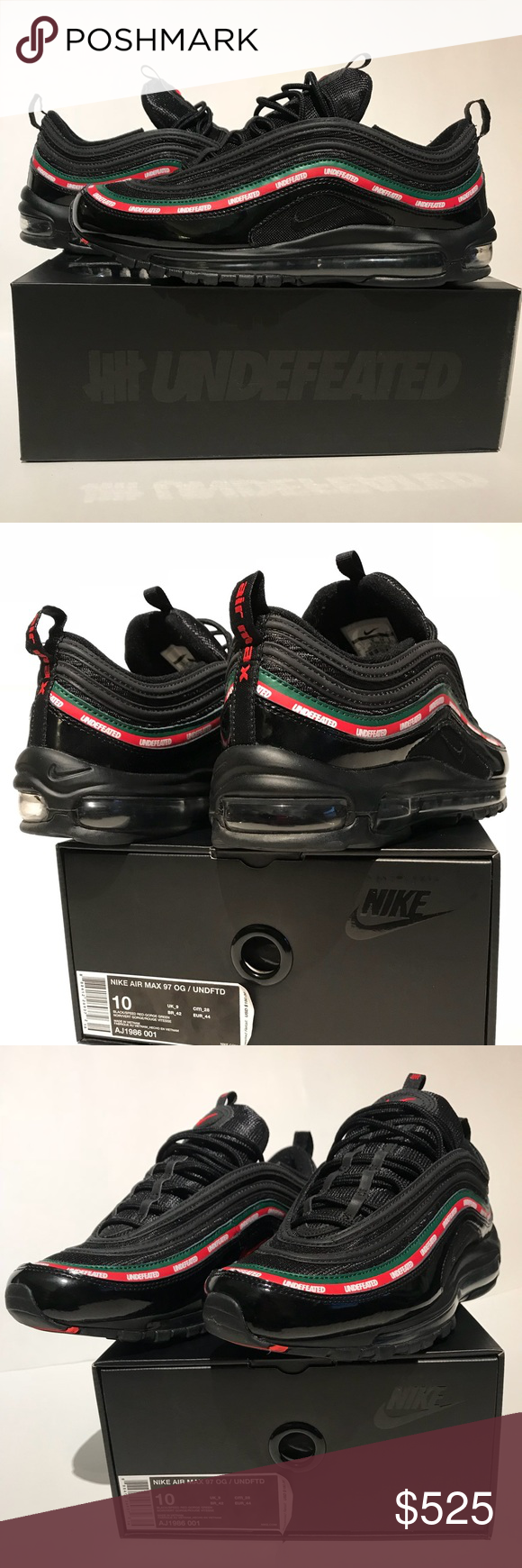 timeless design 2c679 eb95c Nike Air Max 97's ( UNDEFEATED ) Collaboration DEADSTOCK ...