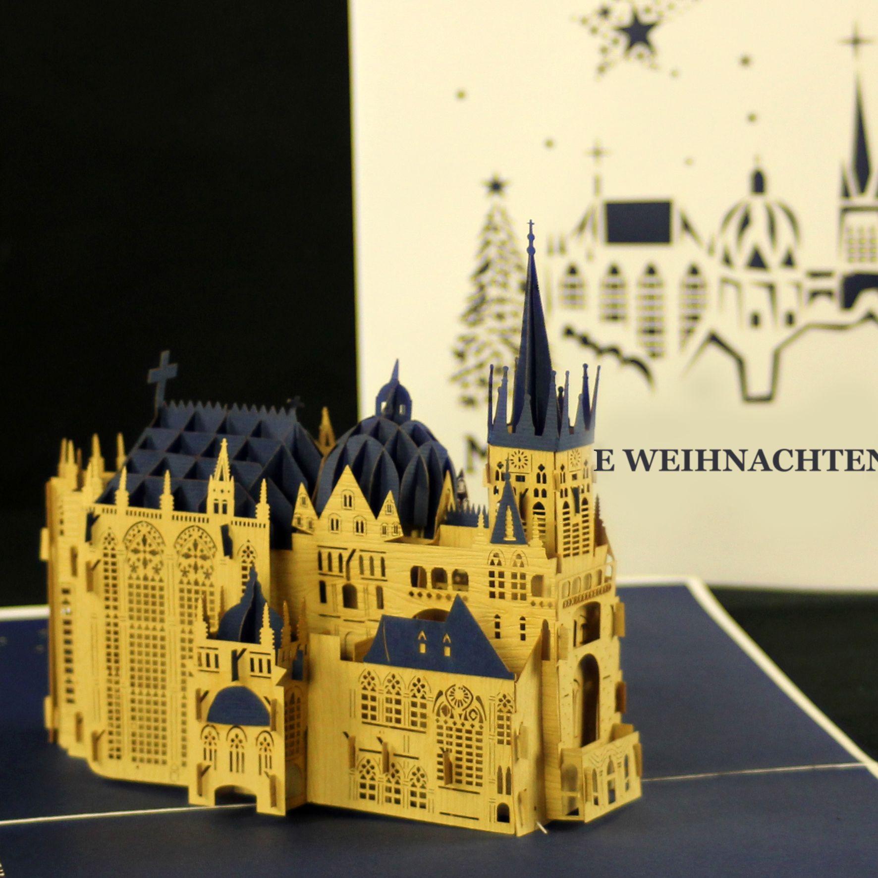 Pop Up Karte Tannenbaum.Popupkarte Colognecards 3dkarte Weihnachtskarte Aachenerdom