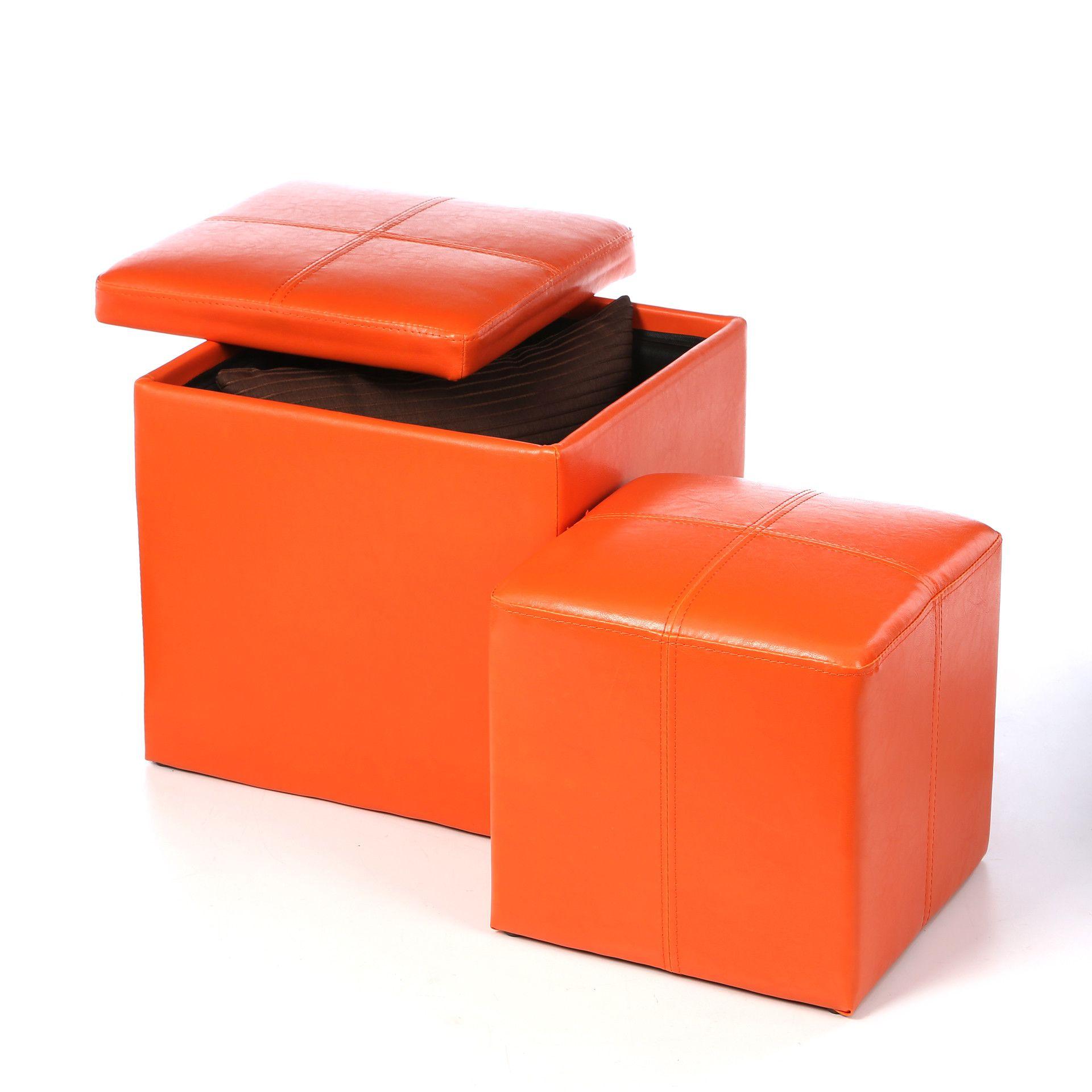 Woodbridge Home Designs 4723 Series Cube Ottoman & Reviews | Wayfair - $62.99