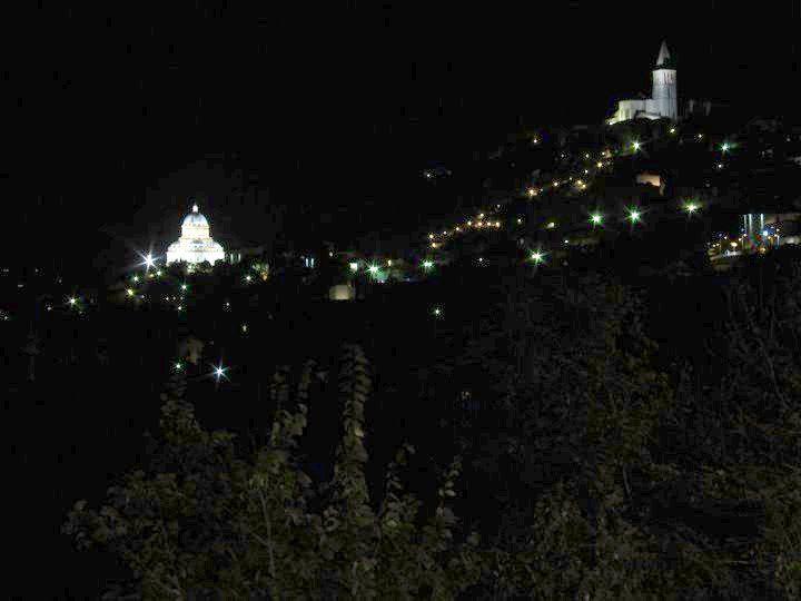 night view of Todi, Italy