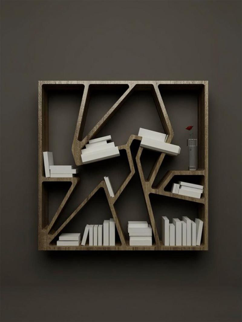 fascinating modern book shelves, bookcase design, cheap and modern