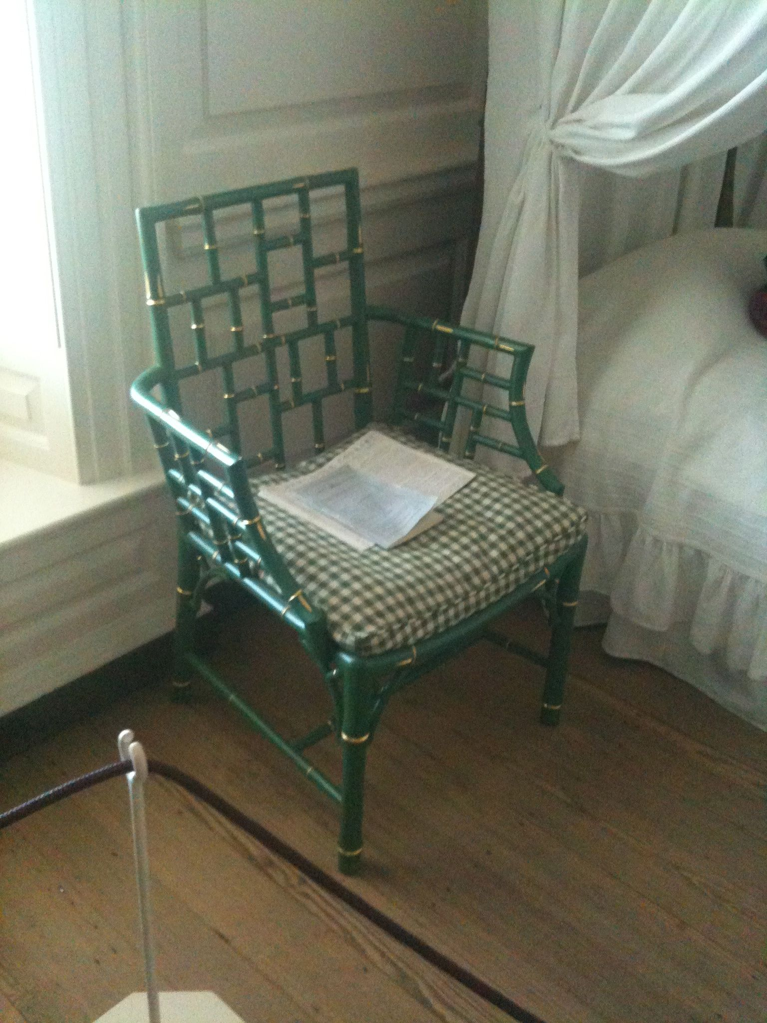 Love This Painted Bamboo Chair In A House At Colonial Williamsburg Va