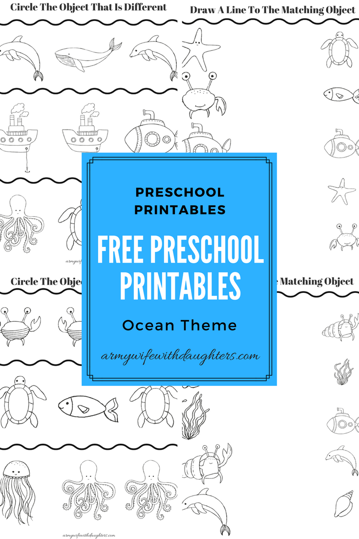Free preschool printables. Ocean theme preschool worksheets ...