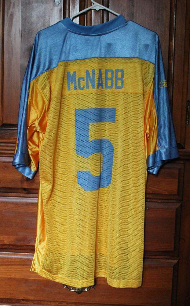 san francisco 81c43 842c1 Donovan McNabb Philadelphia Eagles Blue Yellow Throwback ...