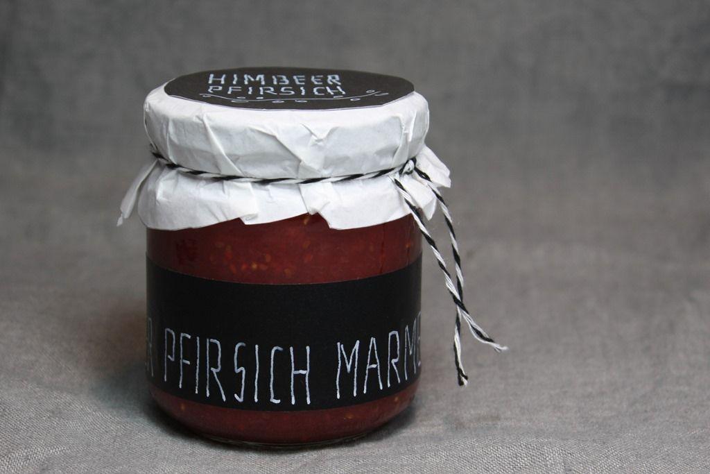 Pfirsich Himbeer Marmelade