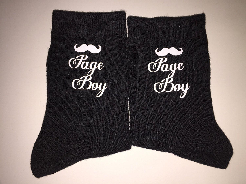 Page Boy Outfit Gift Socks Boys Underwear Ring Bearer Little Usher Brides Son Groomsman By