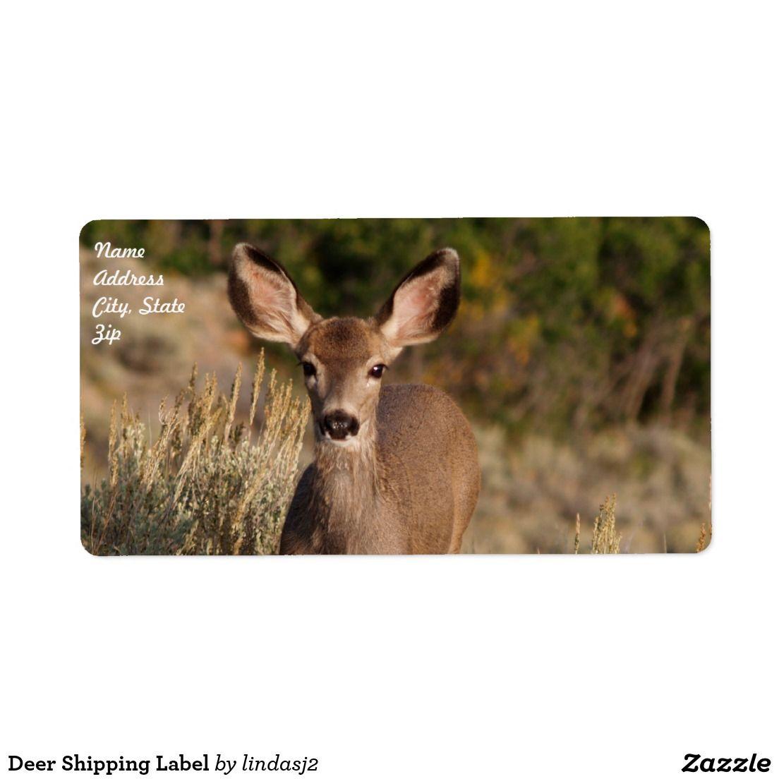 Deer Shipping Label