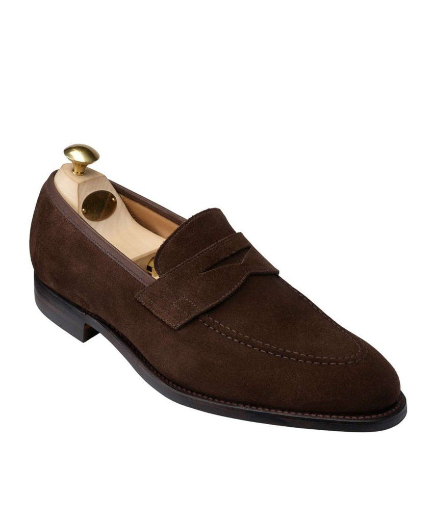 f2a6288dcce4 Crockett and Jones Sydney Snuff Suede Loafer   T.Q.M.-Shoes ...