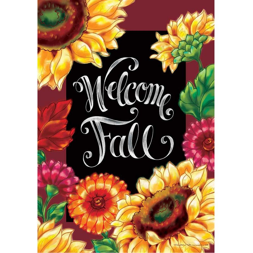 Welcome Sunflowers Double Sided House Flag