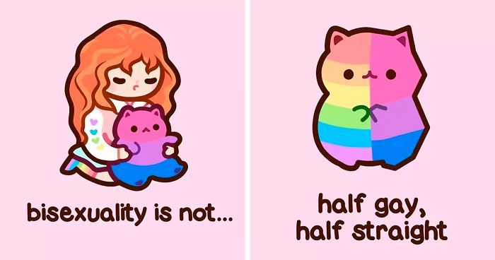 5 Most Common Misconceptions About Bisexuality Explained Through Adorable Kitten Illustrations