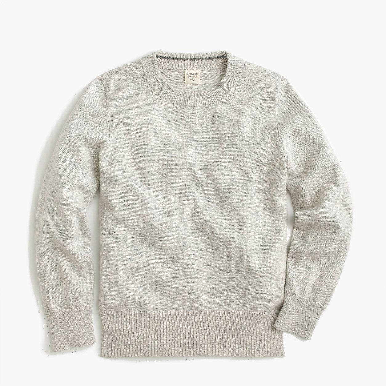 aff657015 crewcuts Boys Cotton-Cashmere Crewneck Sweater (Size 6-7 Kid) | Products