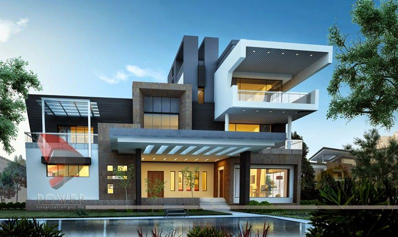 Modern Architecture Render ultra modern home designs: house 3d interior exterior design