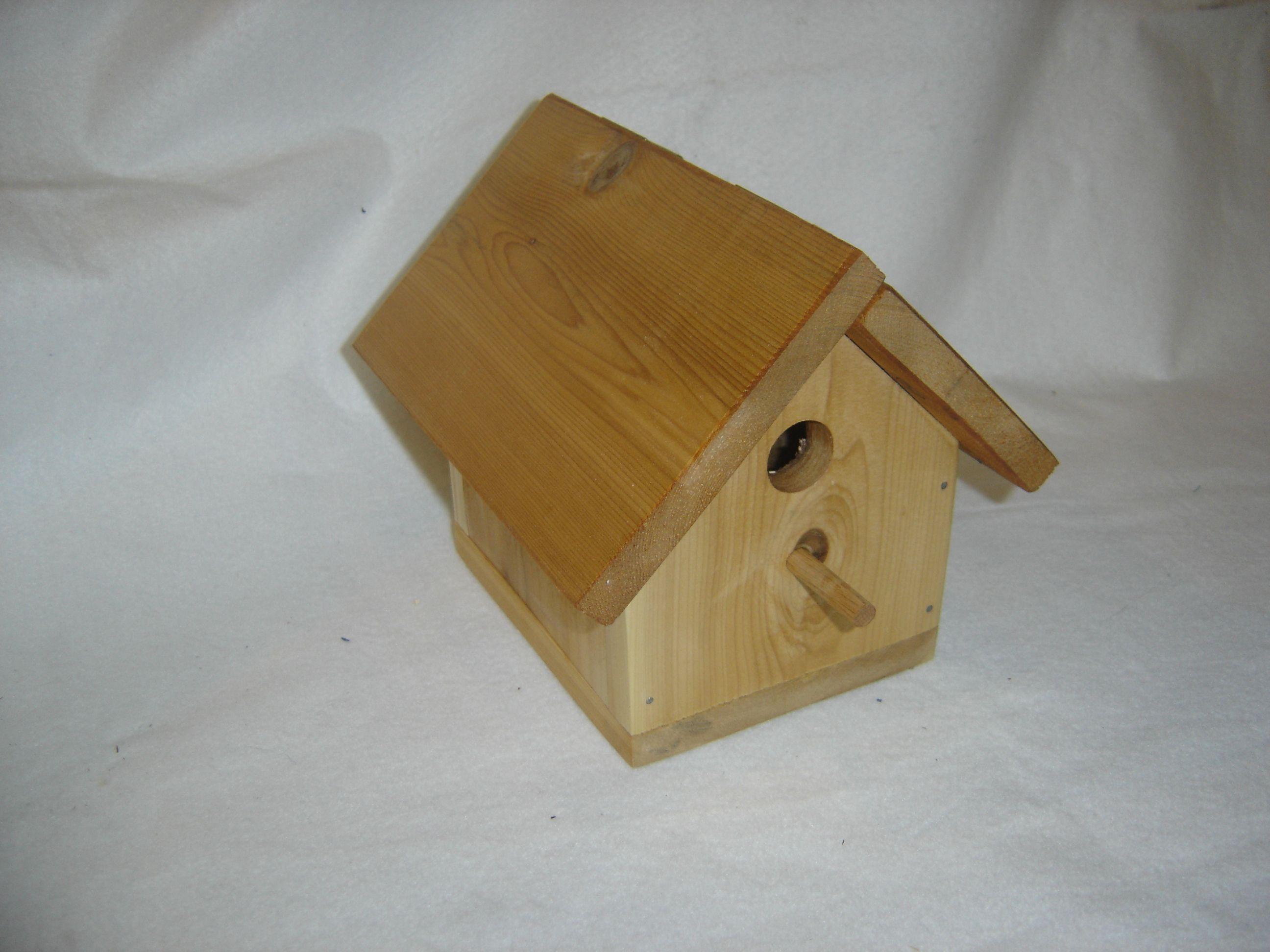 small cedar birdhouse