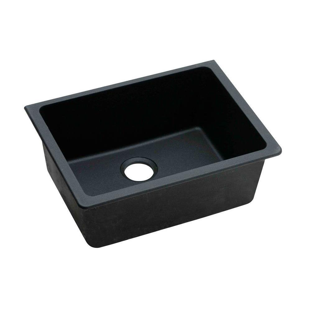 Elkay Gourmet Undermount E Granite 25x18 5x9 5 0 Hole Single Bowl