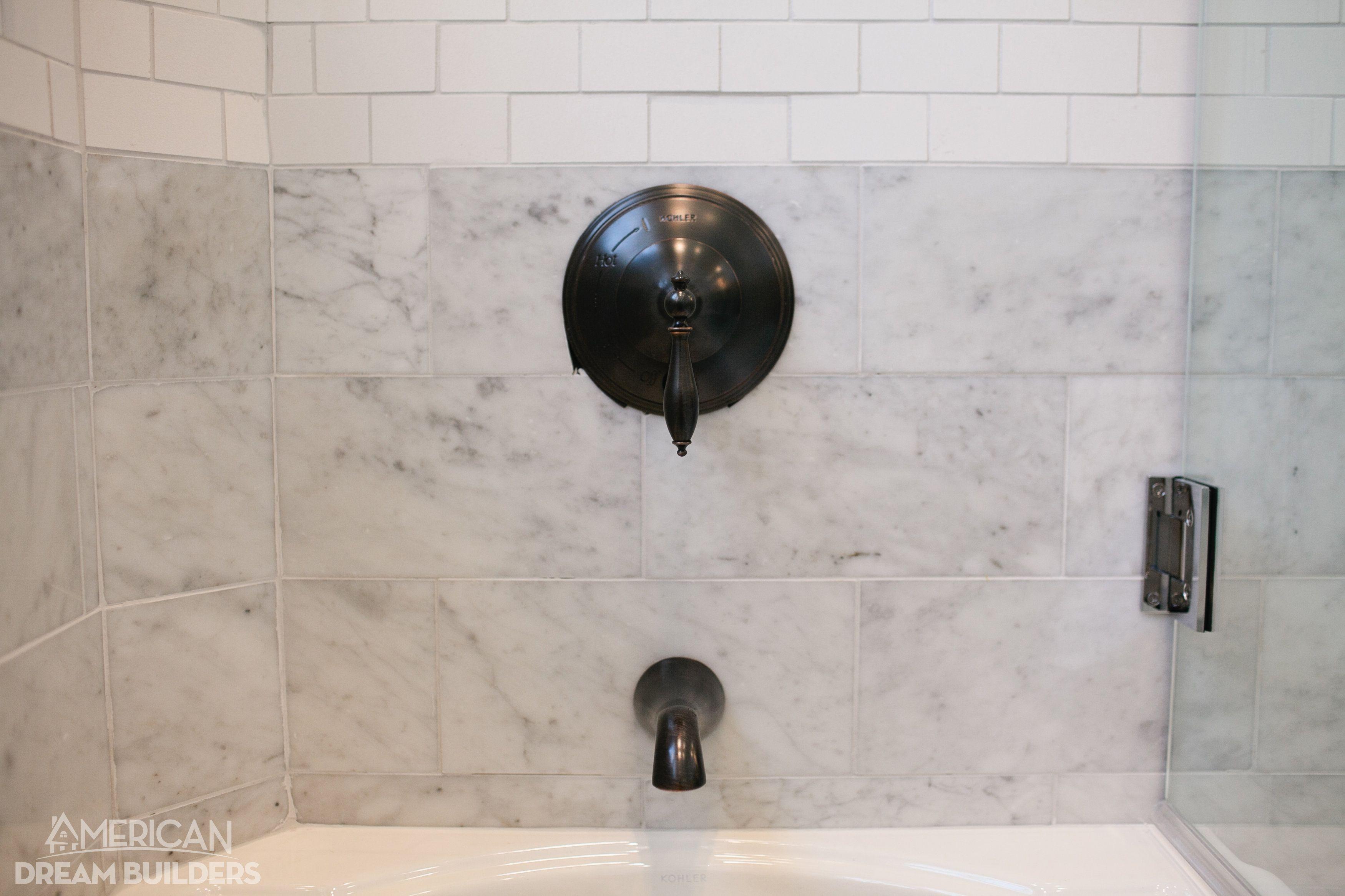 Wall Tile Florentine 10 X 14 Carrara Fl06 With Rittenhouse Square 3 X 6 Artic White 0190