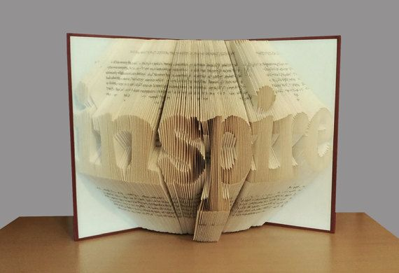 Folded book art inspire personalized gift home decor graduation gift book