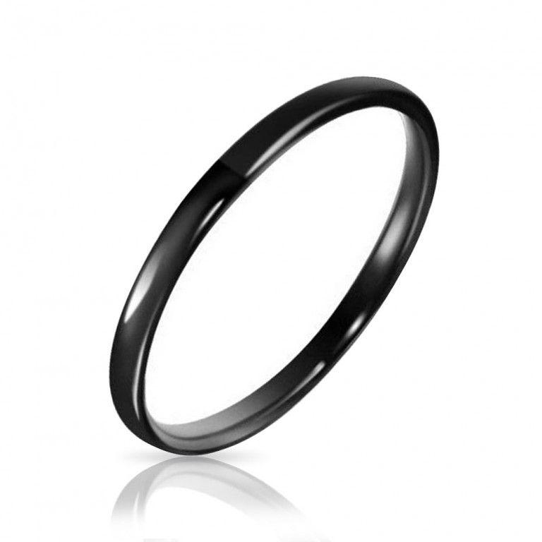Bling Jewelry Tungsten Black Unisex Ring 2mm styZTQ1Lt