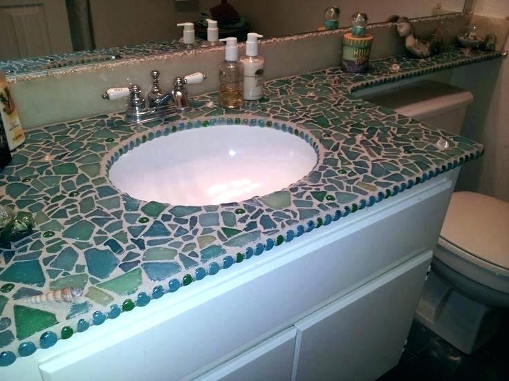 Glass Countertops Kitchen Google Search Mosaic Bathroom Glass