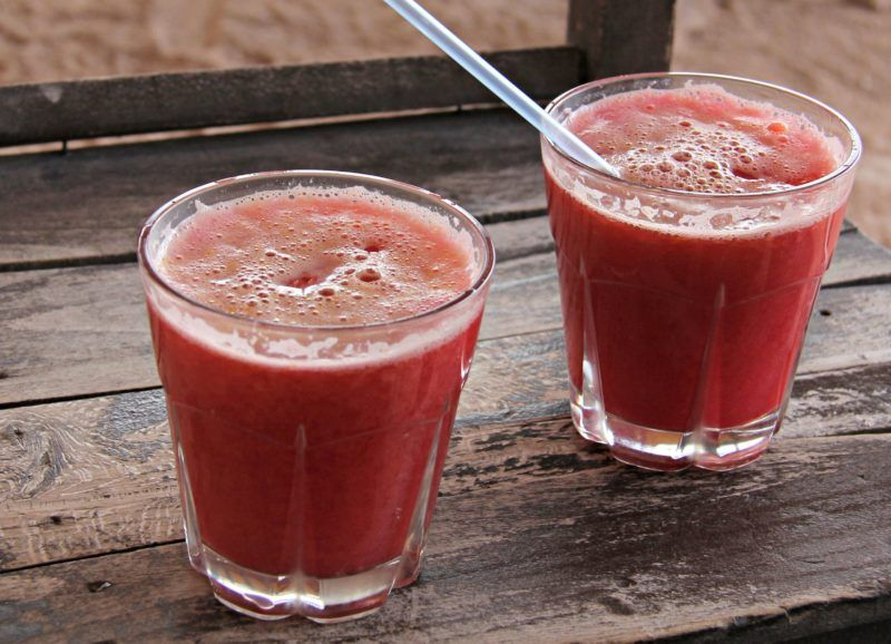 Pomegranate and Orange Juice