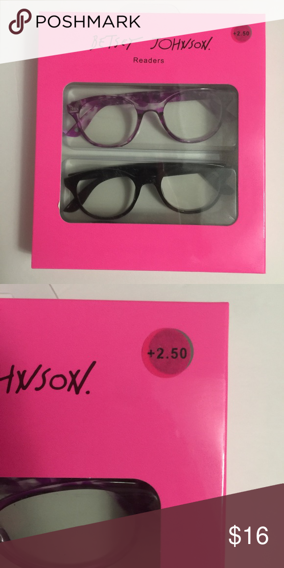 888ef154d0a1 Betsey Johnson readers +2.50 Betsey Johnson reading glasses +2.50  magnification . These are so