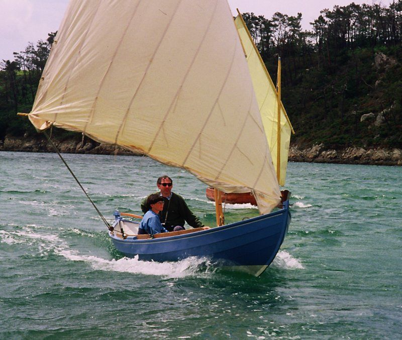 Youkou-Lili,  during a sail and oar gathering on Belon river. Brittany