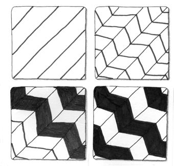 Gallery For - Zentangle Patterns Step By Step | Zentangle