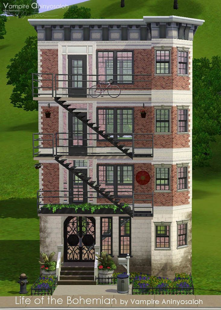 Mod The Sims Life Of The Bohemian No Cc Sims Building Sims