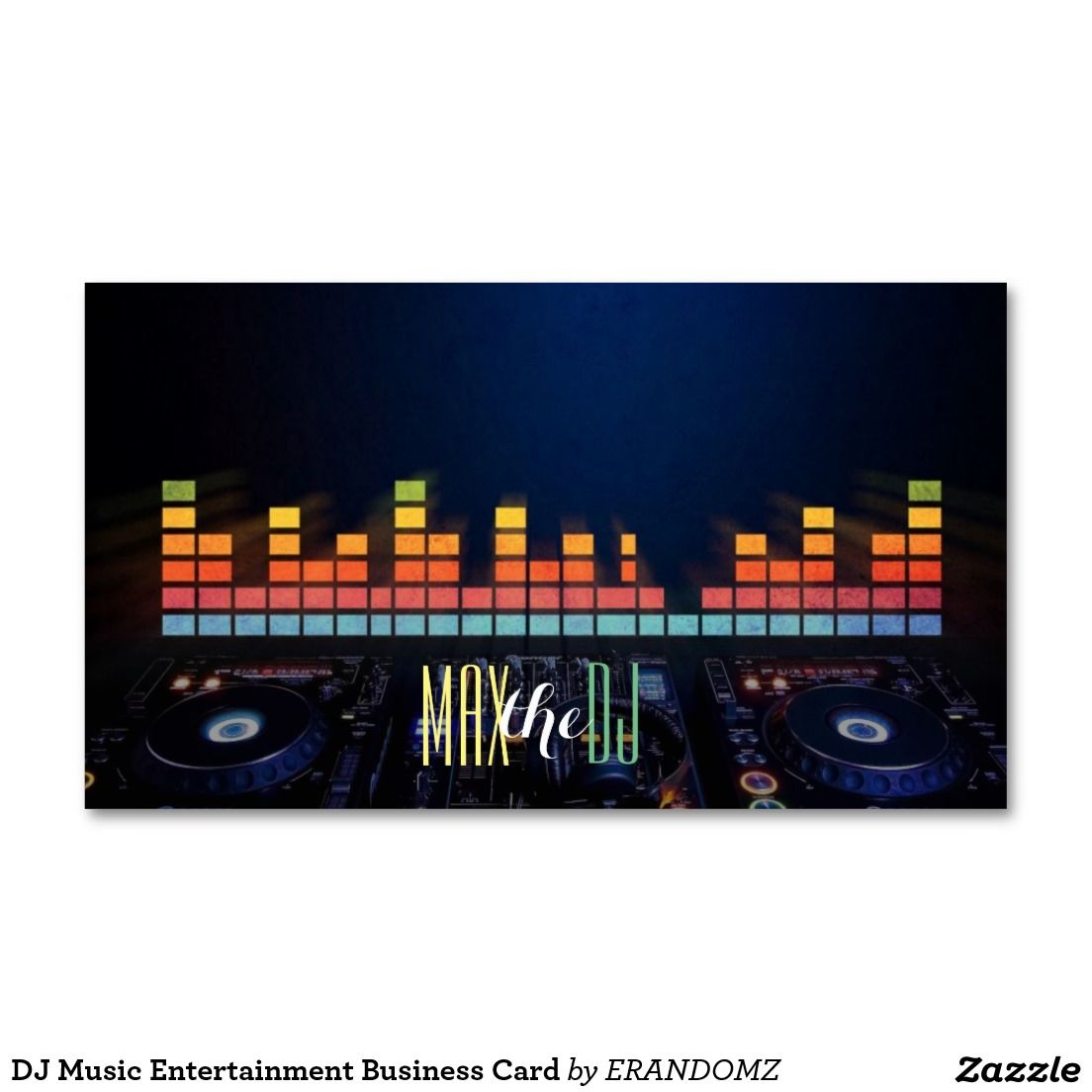 Dj music entertainment business card dj business cards pinterest dj music entertainment business card reheart Image collections