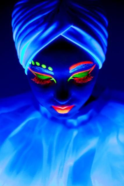 Neon Makeup For The Black Light With Images Neon Makeup