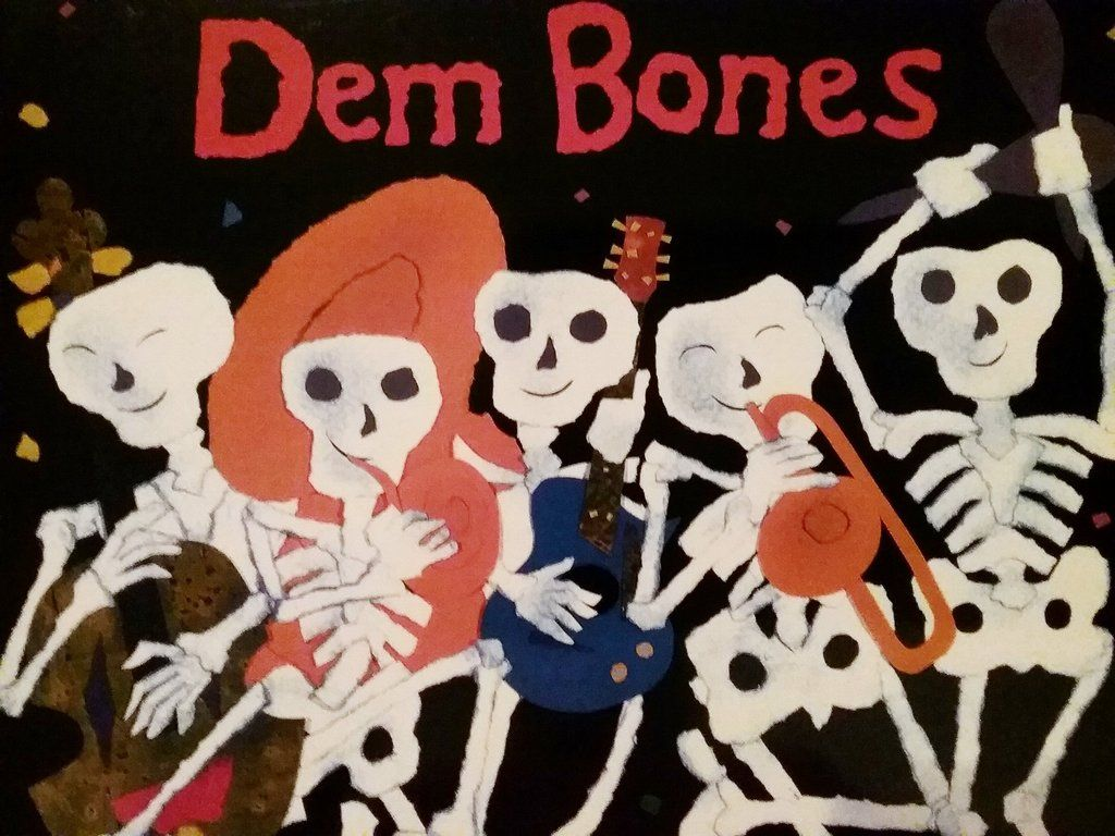 Dem Bones by Bob Barner paperback | Collage illustration, Picture book,  Paperbacks