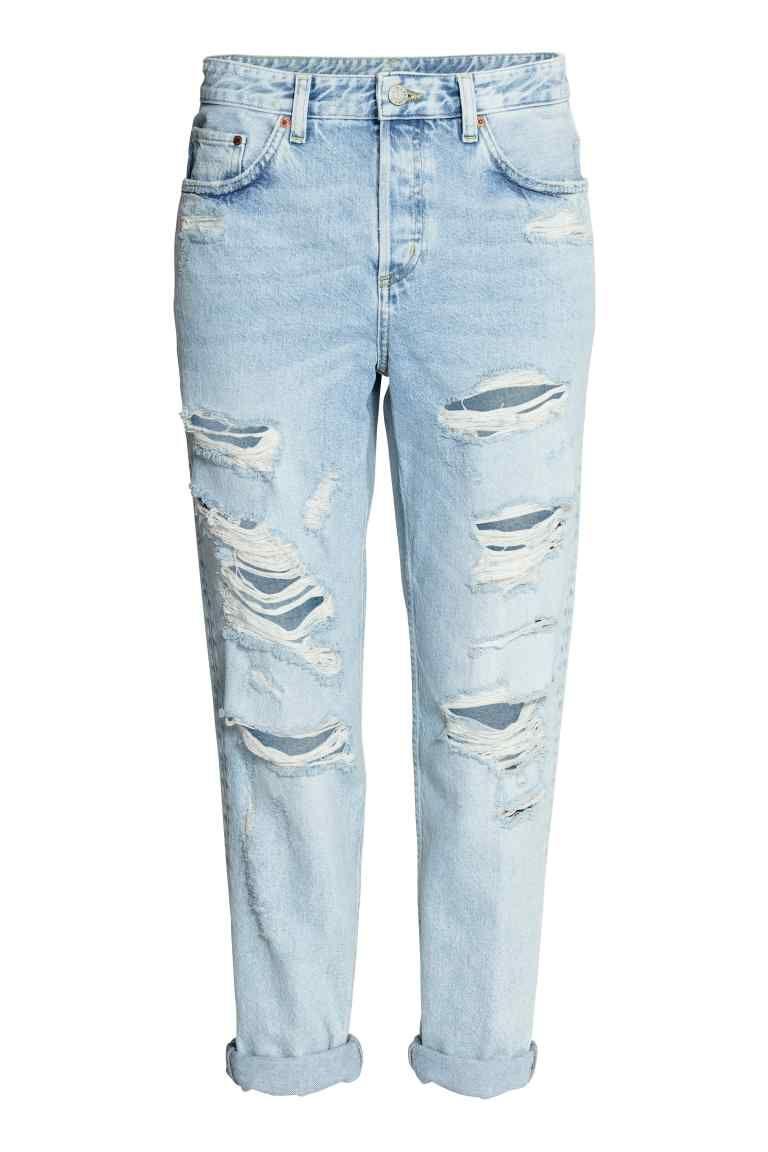 premium selection 98cd0 f8a55 Boyfriend Low Ripped Jeans - Azul denim claro 29,99   20,99 EUR   H M