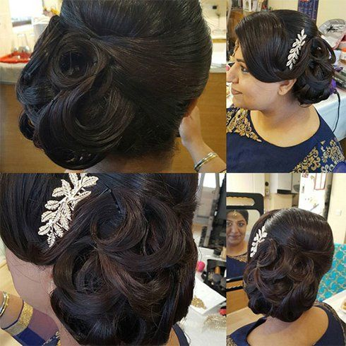 60+ Traditional Indian Bridal Hairstyles For Your Wedding. Indian Wedding HairstylesLong  Hair ...