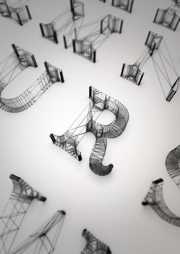 Buchstaben. 3D. Design. Typo. | Graphic Design. | Pinterest | 3d ...