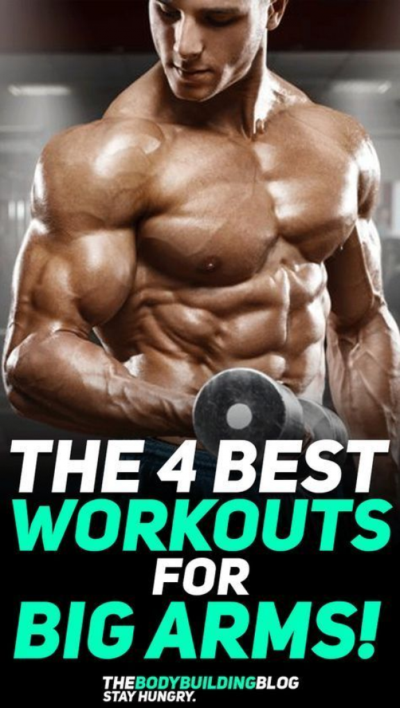 Check out the 4 best #workouts for big arms! The workouts are designed in four different ways: 1) to...