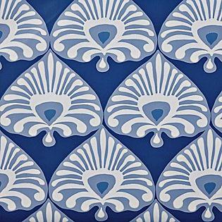 Palmetto Wallpaper Cobalt Periwinkle Serena Lily Serena And Lily Wallpaper Fabric Wallpaper Navy Wallpaper