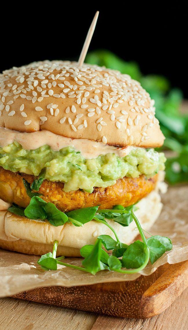 Chipotle Pumpkin Veggie Burgers.