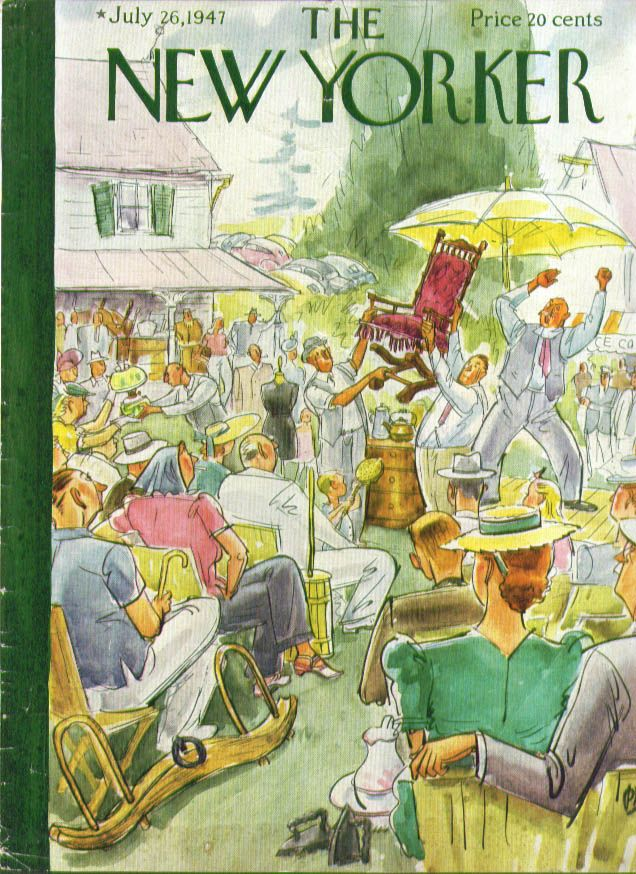 New Yorker cover Perry Barlow country auction 7/26 1947