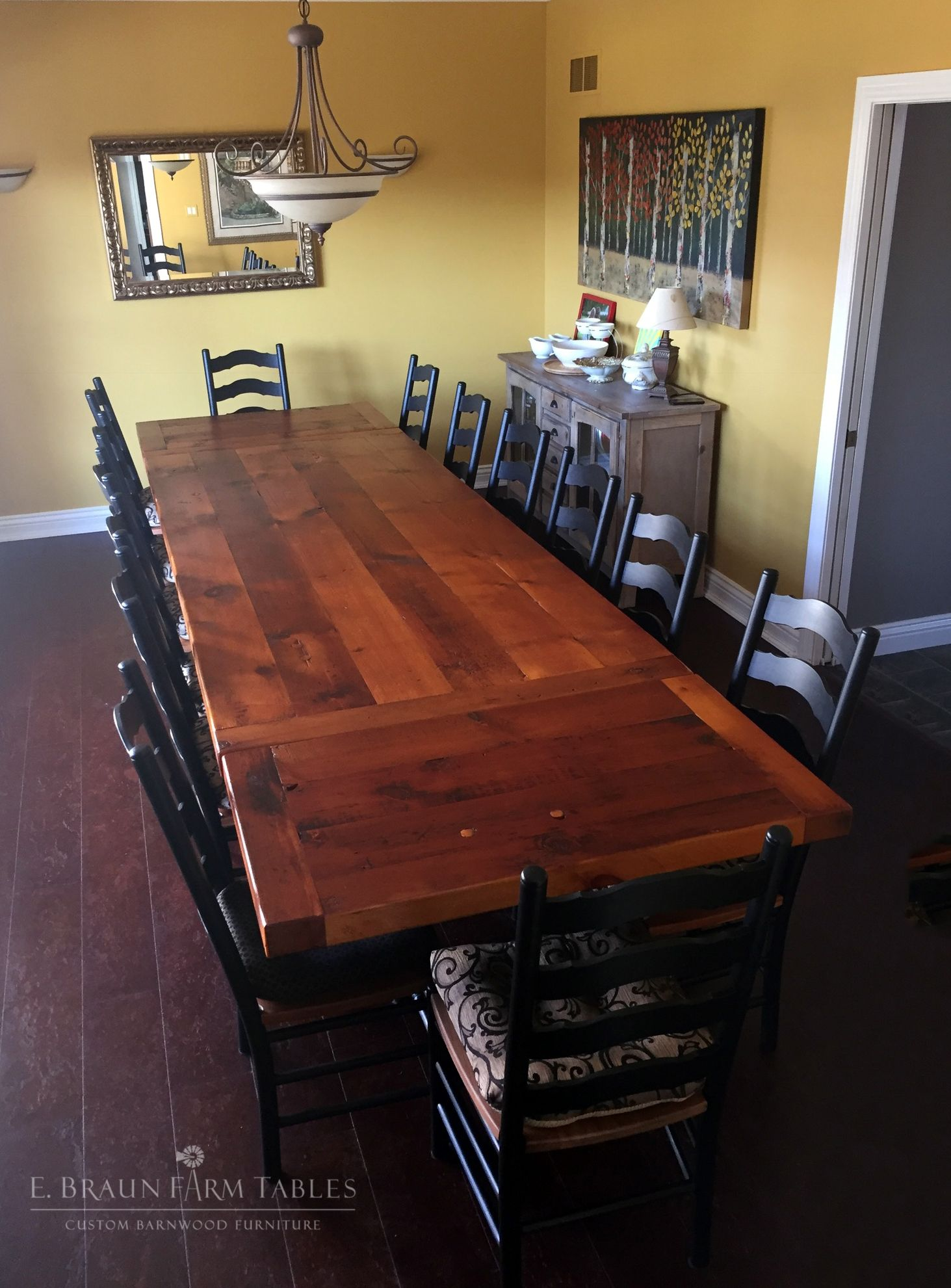 The 10 L Table Is A Stunning 3 Thick Reclaimed Pine Barn Wood