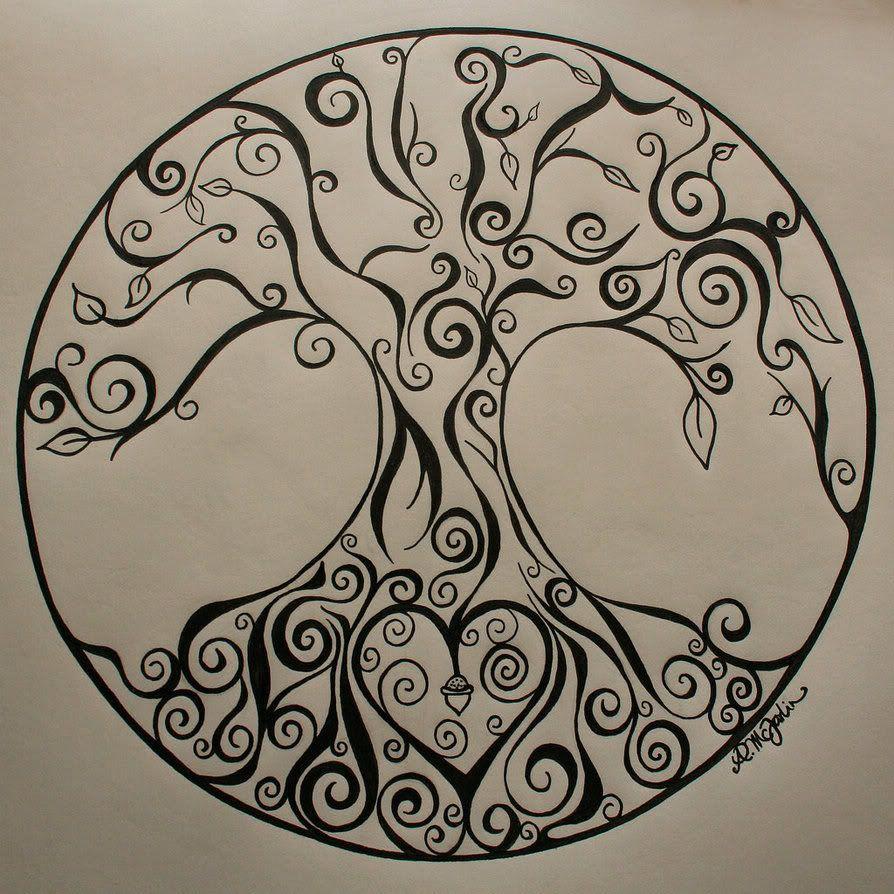 pin von brigitte w auf zentangles doodles tatoos baum. Black Bedroom Furniture Sets. Home Design Ideas