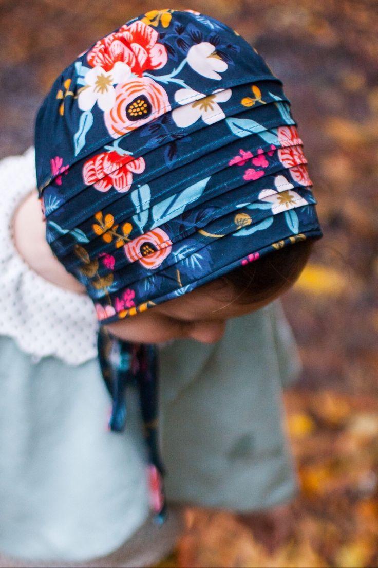 Handmade Pintuck Floral Bonnet  5d6290ad128e