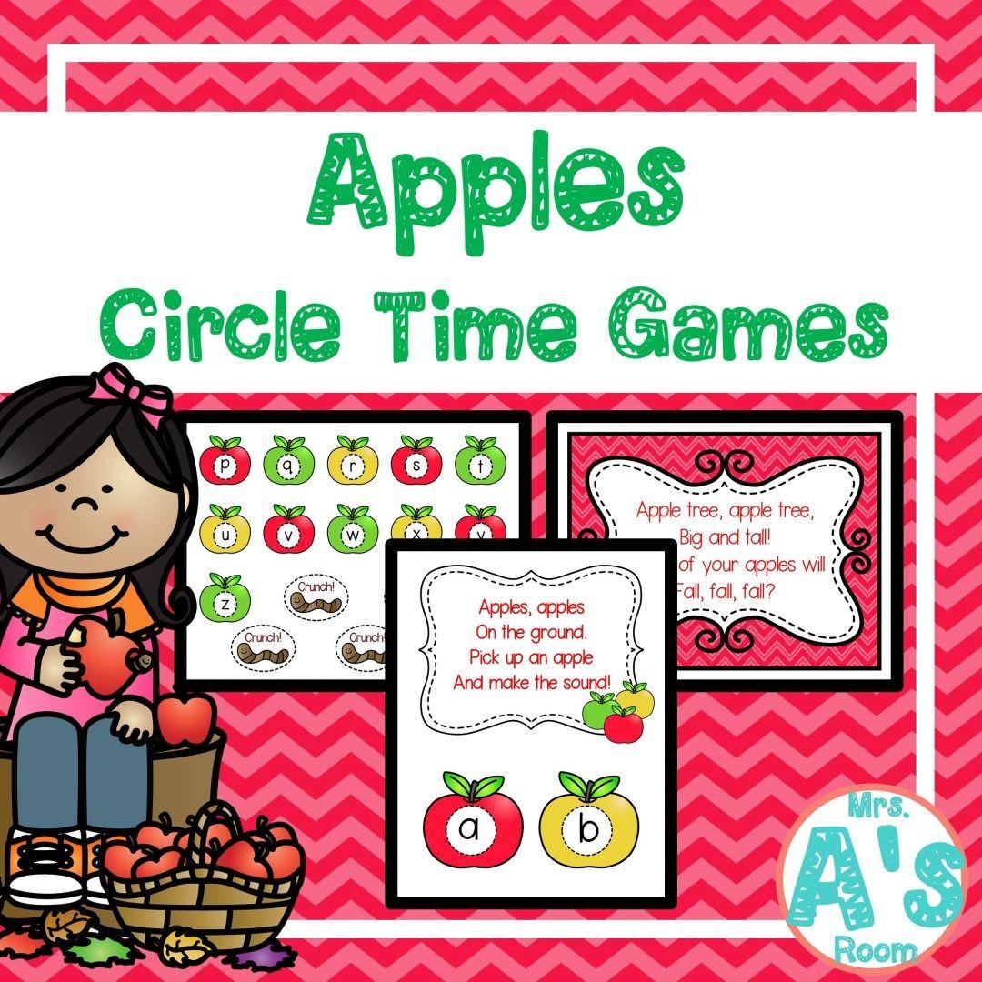 Apples Circle Time Activities **BUNDLE Circle time