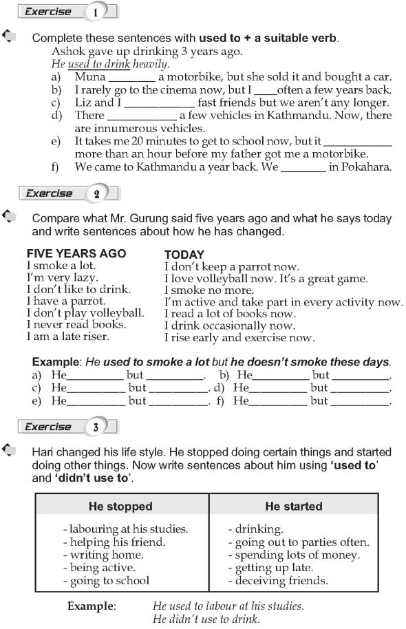 Grade 9 Grammar Lesson 18 Used To Grammar Lessons English Grammar Worksheets Grammar