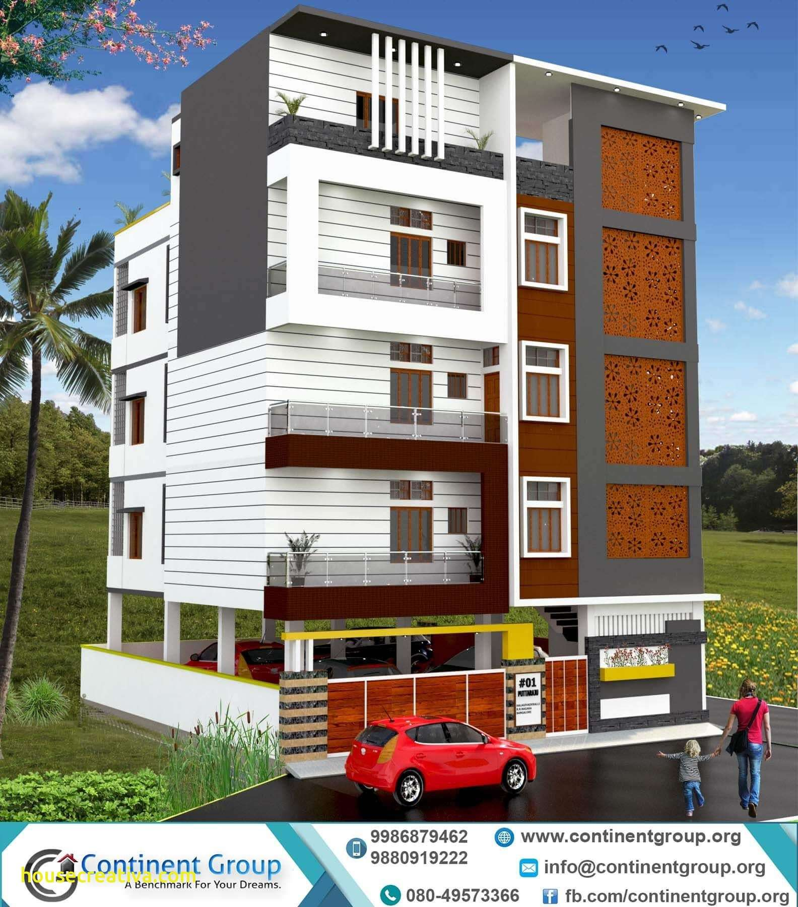Modern Home Elevation Design: Elegant Building Elevation And Modern Houses