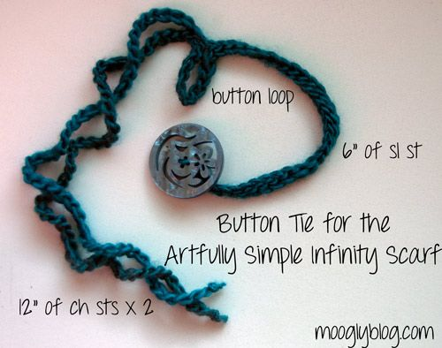 Make a button tie for your scarf or cowl and change the look in ...
