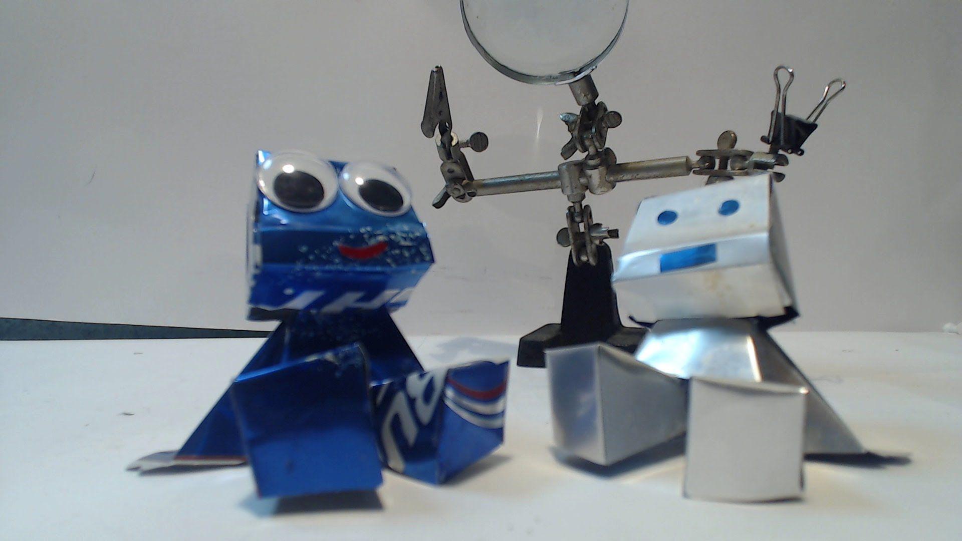 ROBOT HECHO CON LATAS DE ALUMINIO TUTORIAL | cutii din metal ...