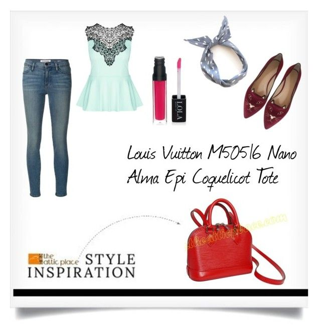 50c8d656043d STYLE INSPIRATION - Louis Vuitton M50516 Nano Alma Epi Coquelicot Tote     by. Frame DenimAtticWoman ...