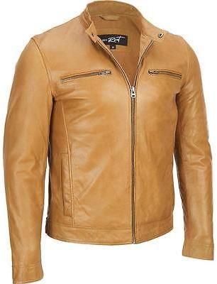 29254c627 Black Rivet Mens Big & Tall Distressed Open-Bottom Leather Jacket ...
