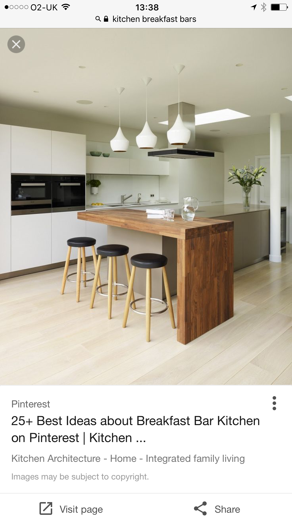 Love The Contrast Of Wood Against Other Materials Perfect Breakfast Bar Kitchen Design Small Kitchen Remodel Small Modern Kitchen