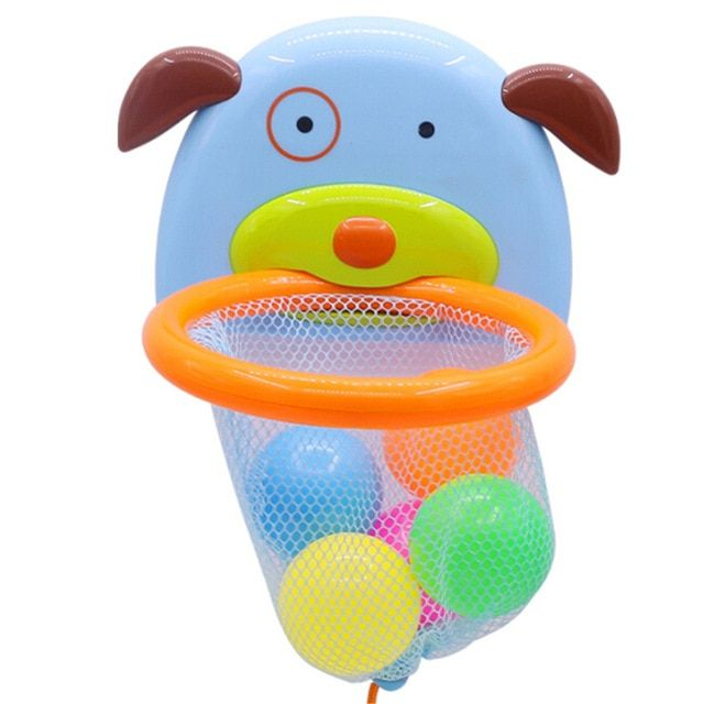 Floating Puppy Water Toy Bathtub Bath Shoot And Splash Basketball